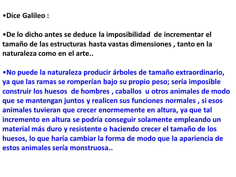 Dice Galileo :