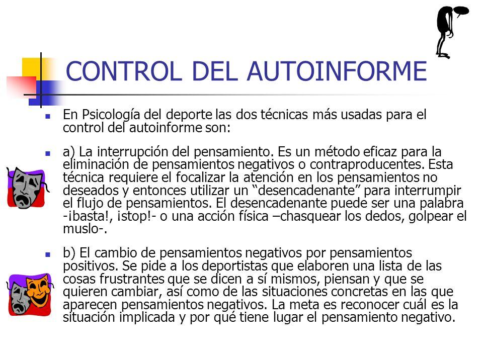 CONTROL DEL AUTOINFORME
