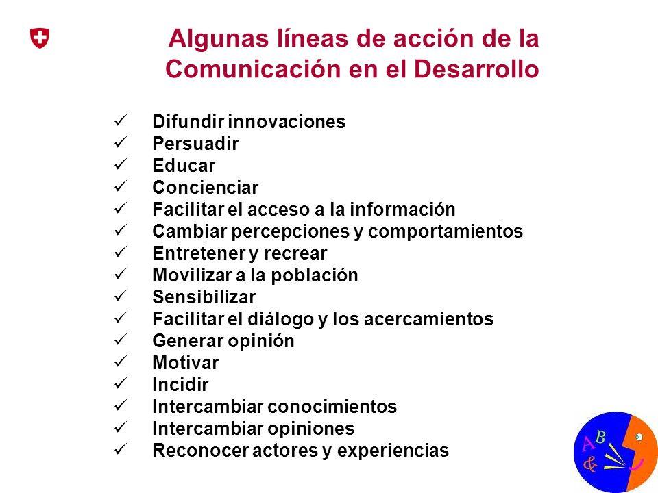 Algunas líneas de acción de la Comunicación en el Desarrollo
