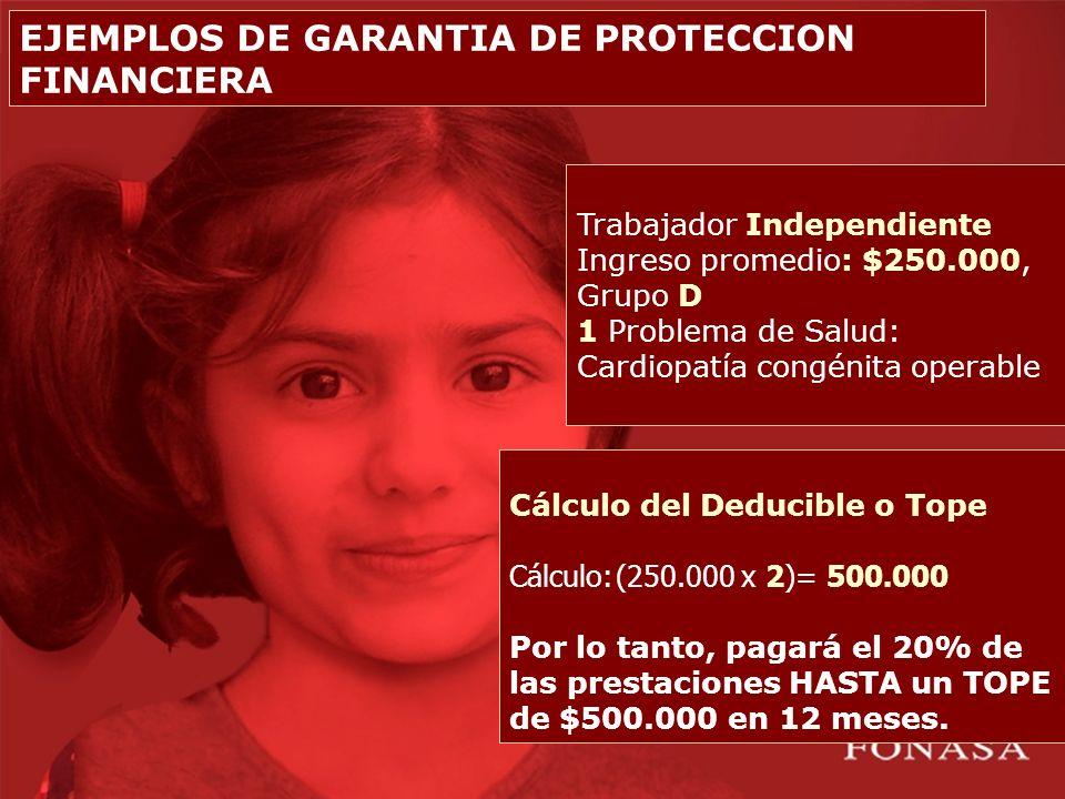 EJEMPLOS DE GARANTIA DE PROTECCION FINANCIERA