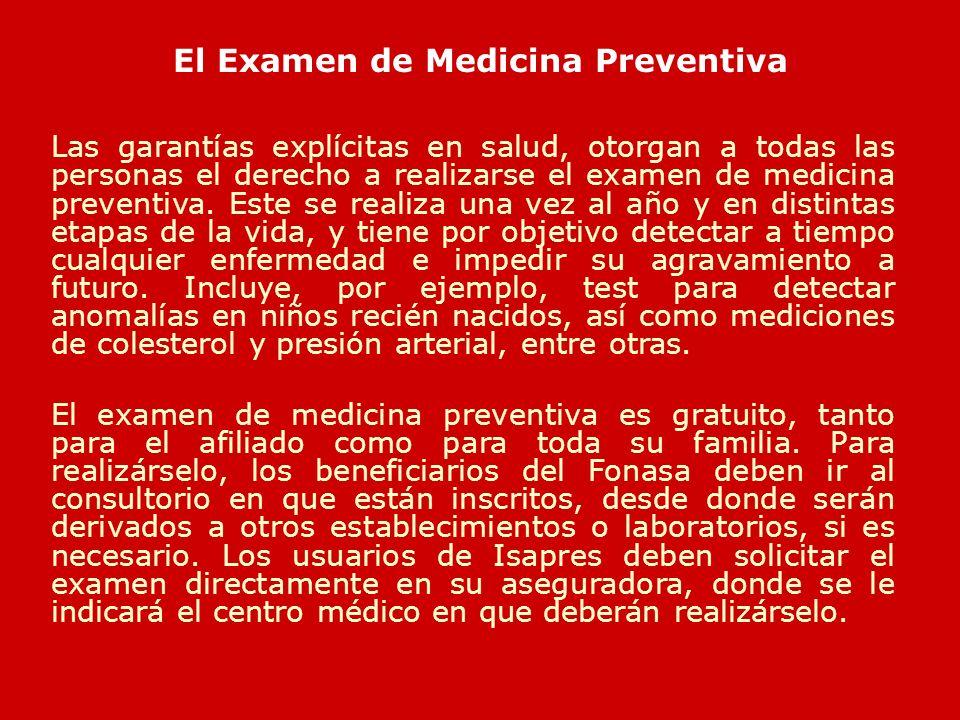 El Examen de Medicina Preventiva