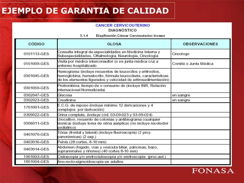 EJEMPLO DE GARANTIA DE CALIDAD