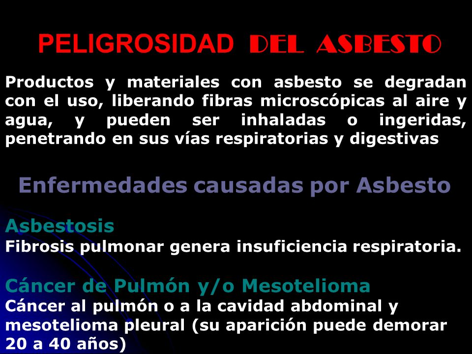 PELIGROSIDAD DEL ASBESTO