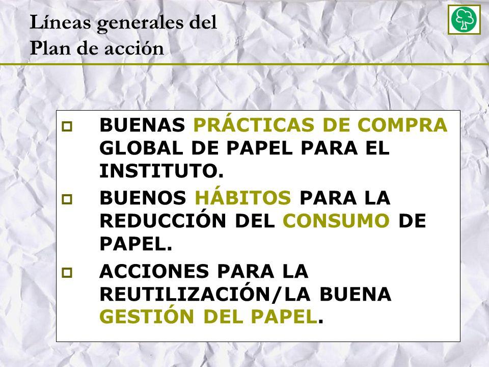 Líneas generales del Plan de acción