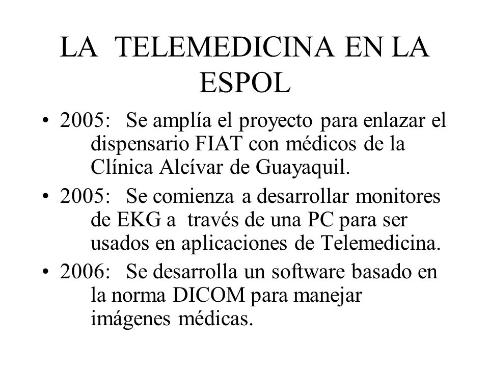 LA TELEMEDICINA EN LA ESPOL