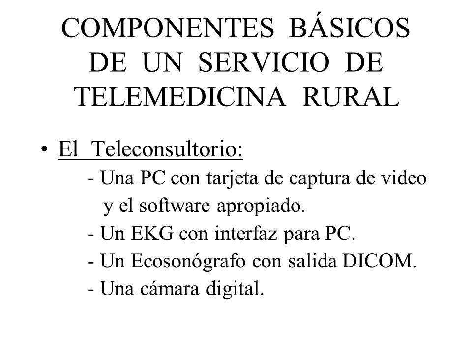 COMPONENTES BÁSICOS DE UN SERVICIO DE TELEMEDICINA RURAL