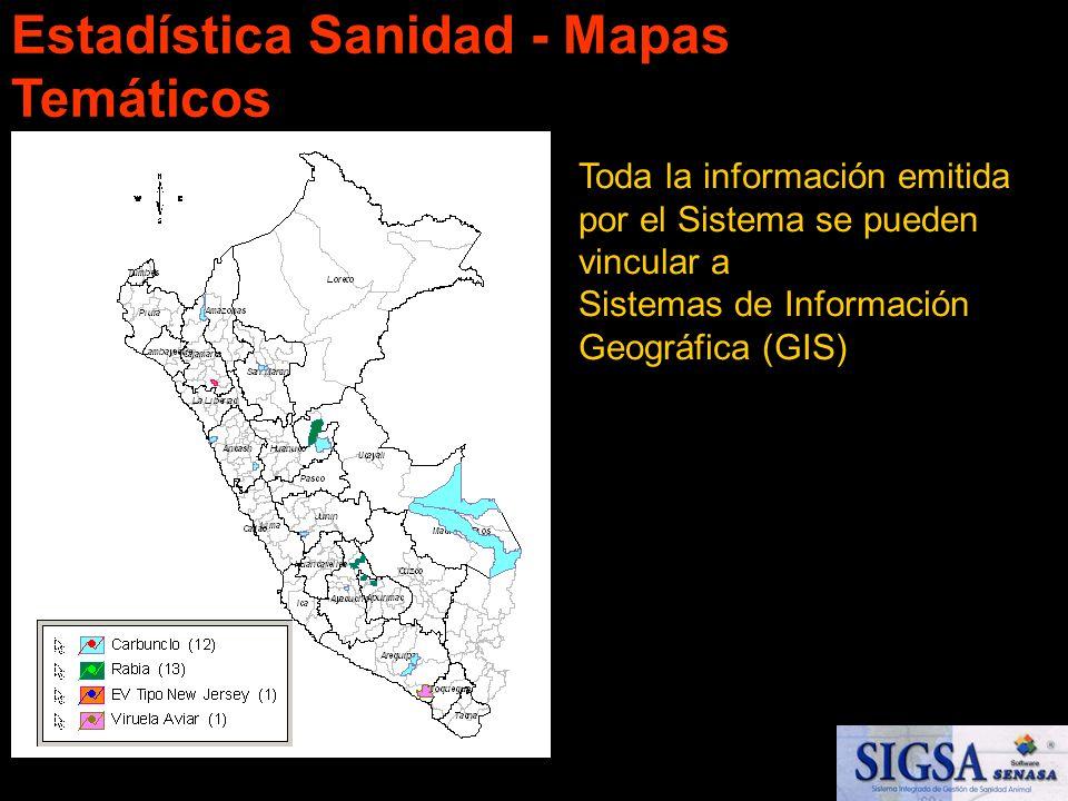 Estadística Sanidad - Mapas Temáticos
