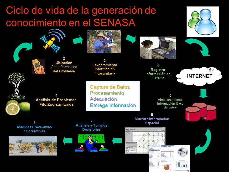 Ciclo de vida de la generación de conocimiento en el SENASA