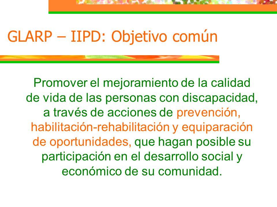 GLARP – IIPD: Objetivo común