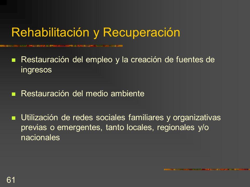 Rehabilitación y Recuperación