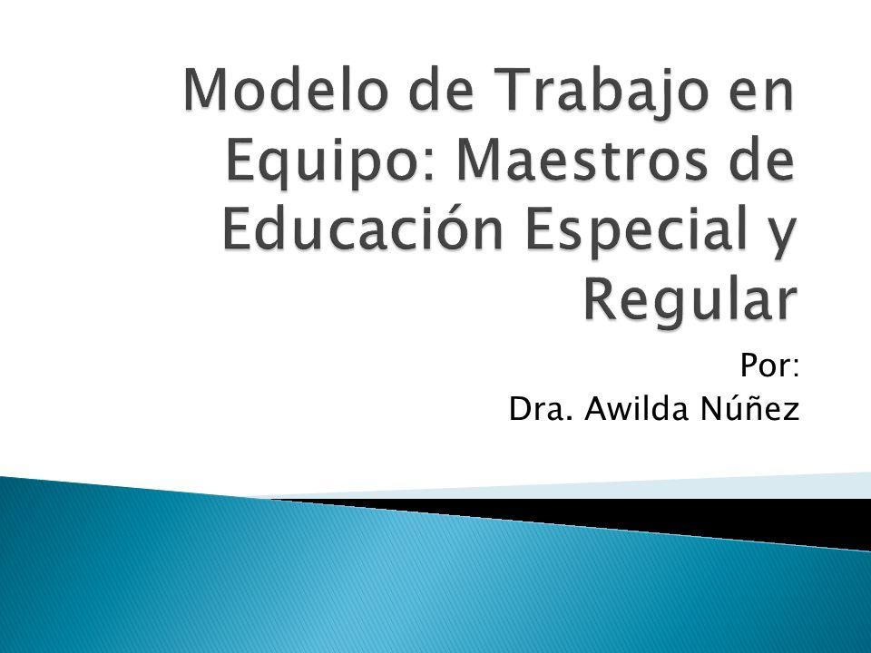 Modelo de Trabajo en Equipo: Maestros de Educación Especial y Regular