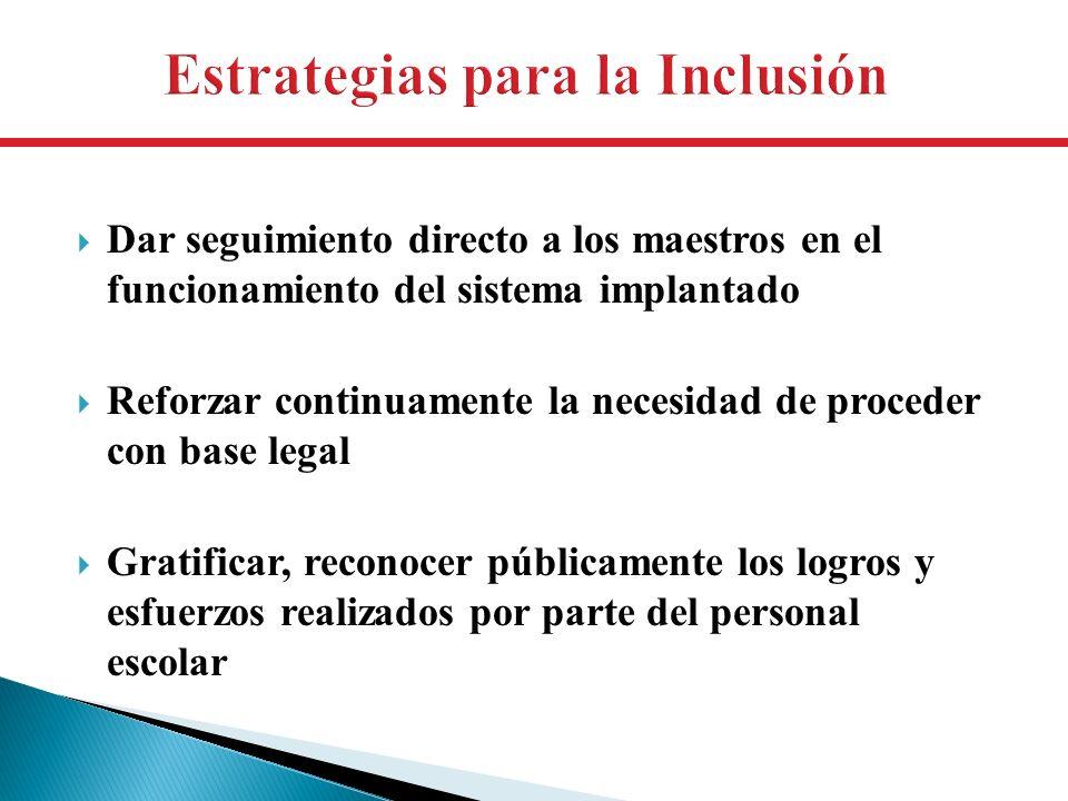 Estrategias para la Inclusión