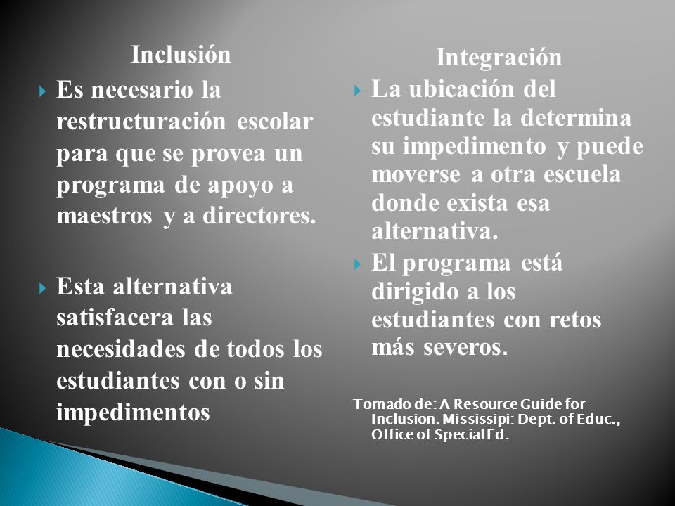 Inclusión Integración