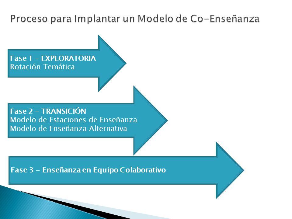 Proceso para Implantar un Modelo de Co-Enseñanza