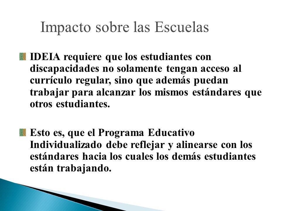 Impacto sobre las Escuelas