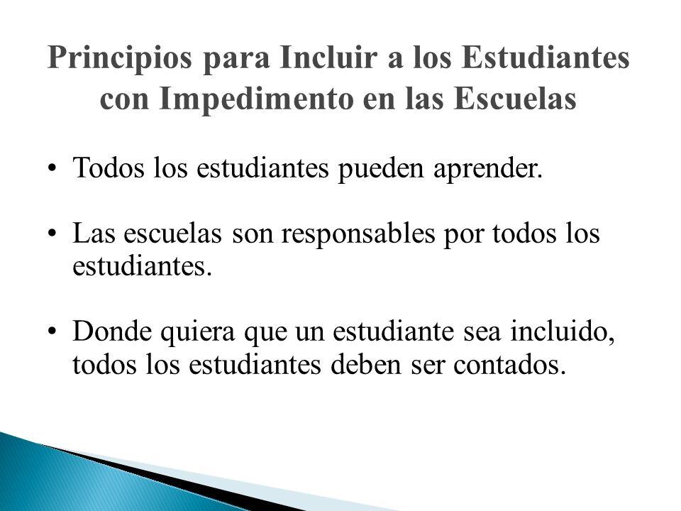 Principios para Incluir a los Estudiantes con Impedimento en las Escuelas