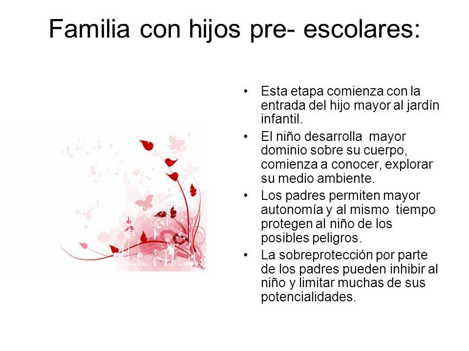 Familia con hijos pre- escolares: