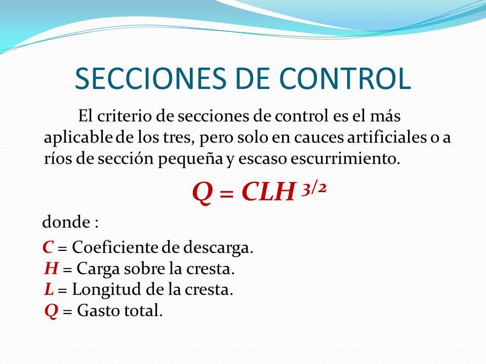 SECCIONES DE CONTROL
