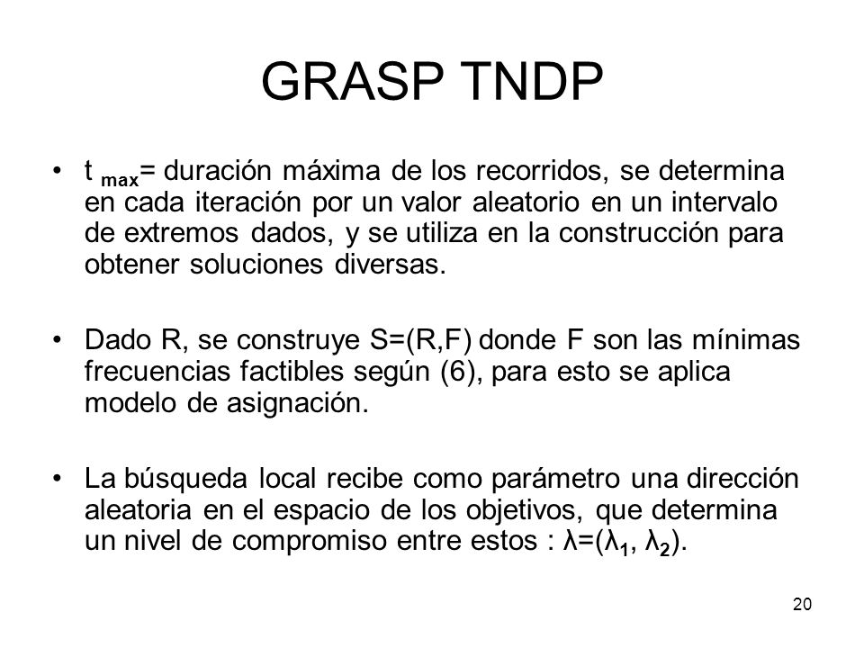 GRASP TNDP