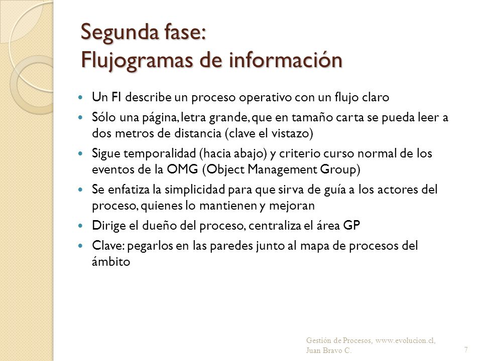 Segunda fase: Flujogramas de información