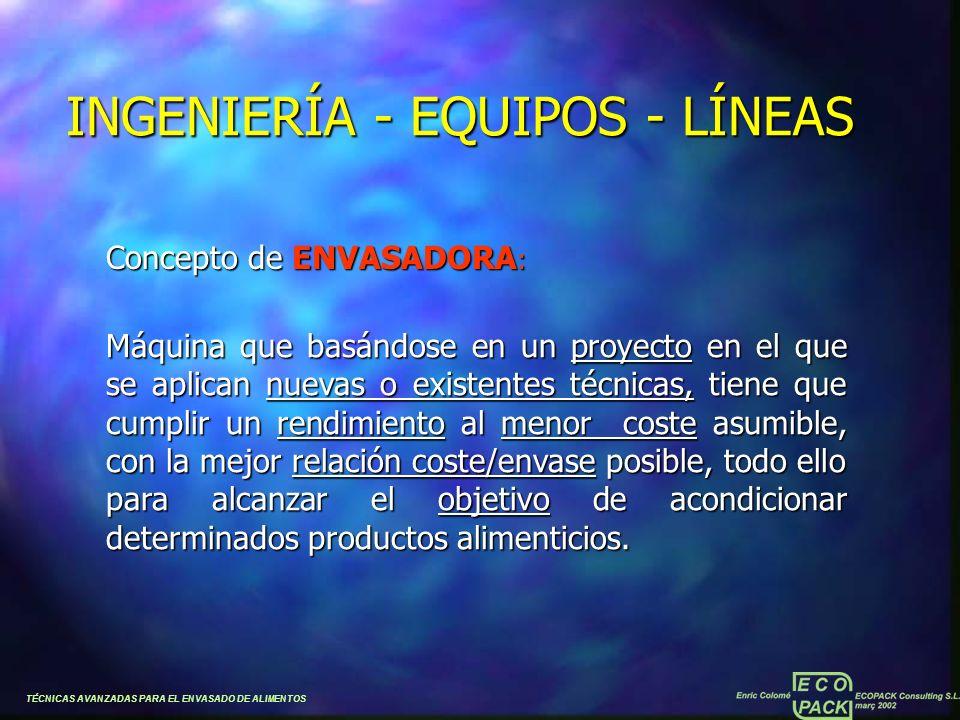 INGENIERÍA - EQUIPOS - LÍNEAS