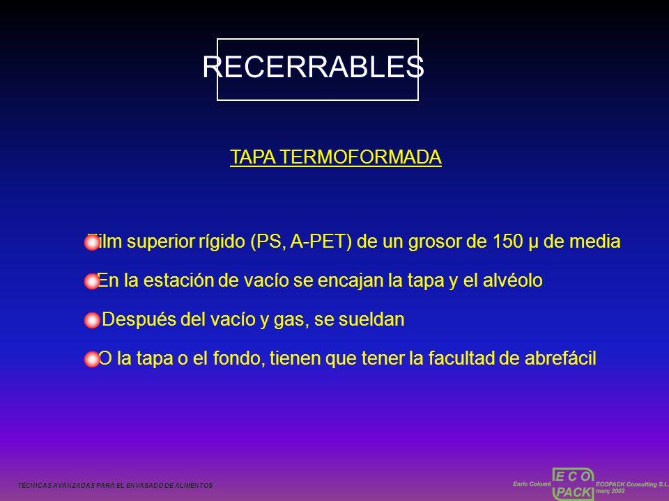 RECERRABLES TAPA TERMOFORMADA