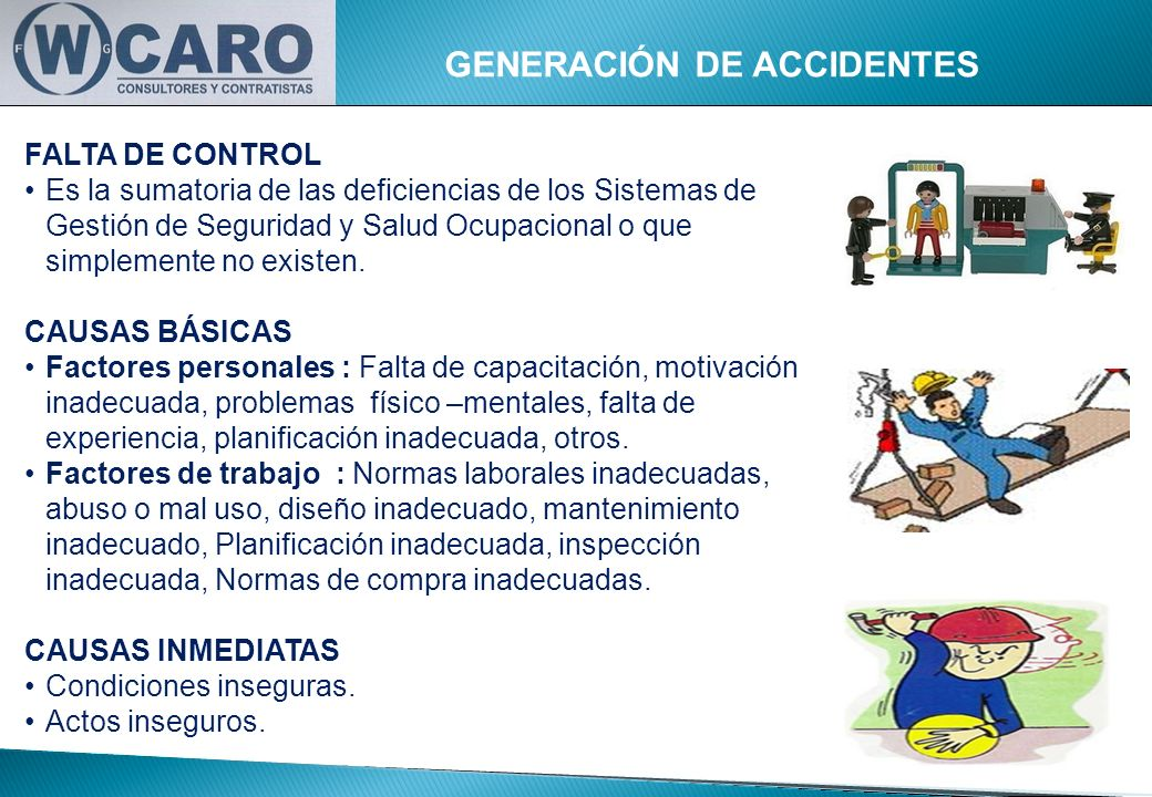 GENERACIÓN DE ACCIDENTES