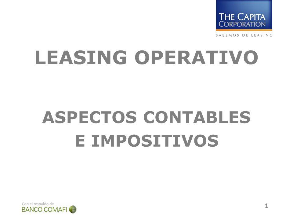LEASING OPERATIVO ASPECTOS CONTABLES E IMPOSITIVOS
