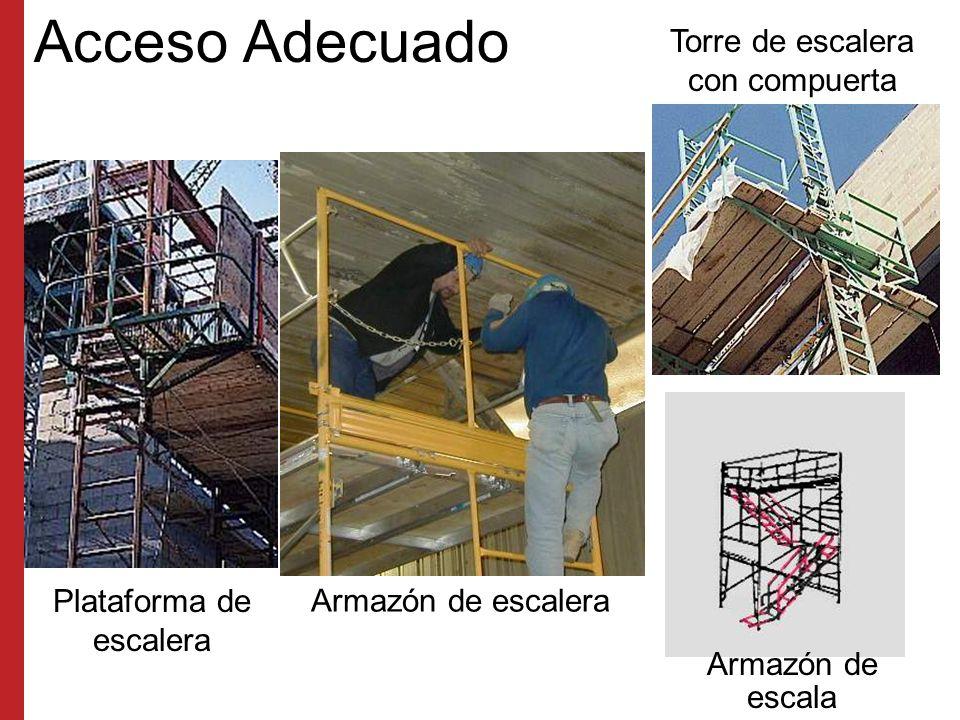 Acceso Adecuado Torre de escalera con compuerta Plataforma de escalera