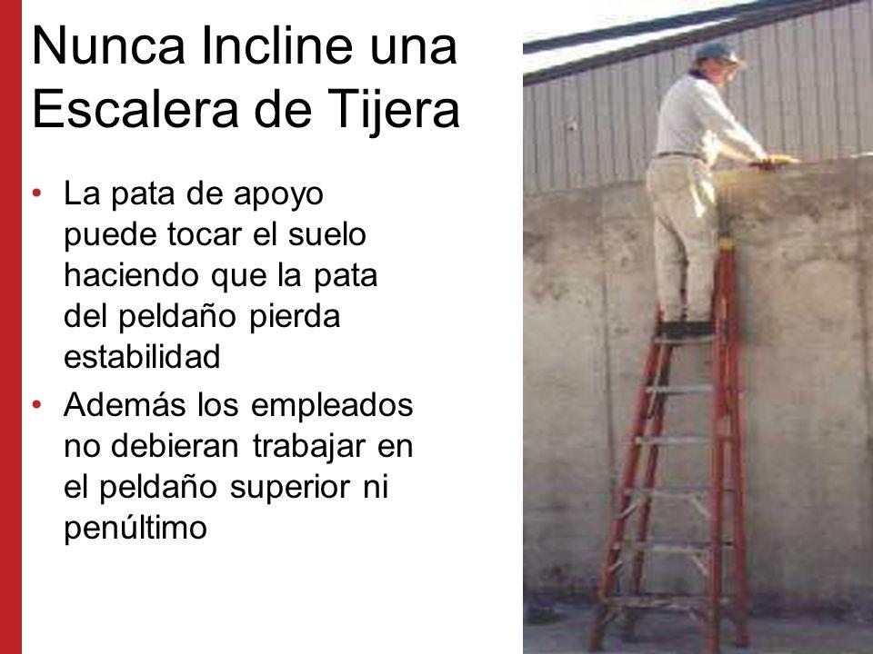 Nunca Incline una Escalera de Tijera