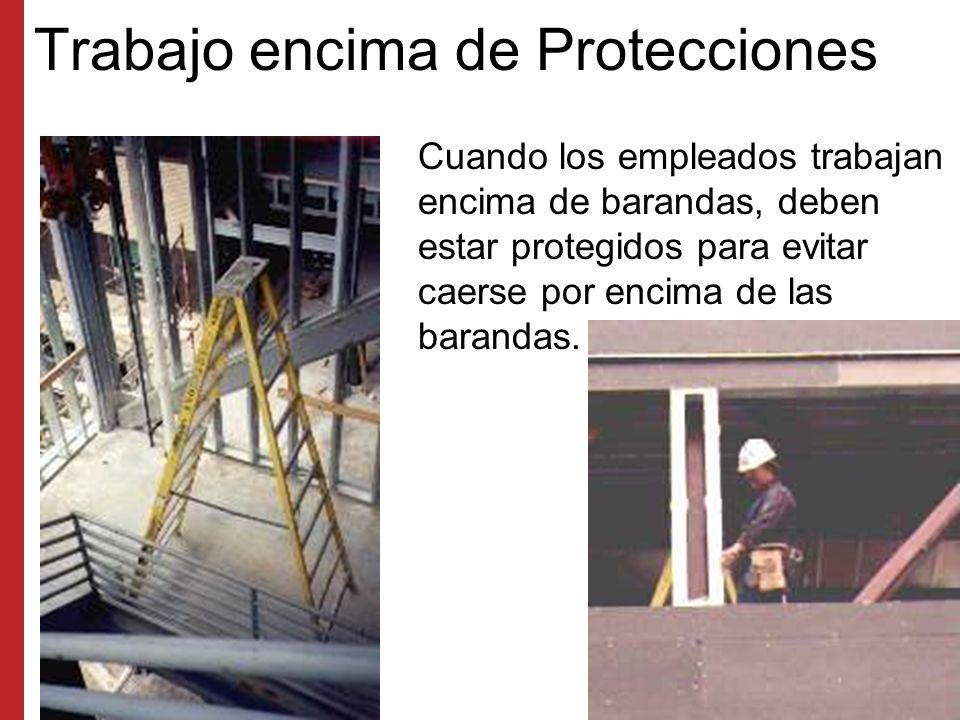 Trabajo encima de Protecciones
