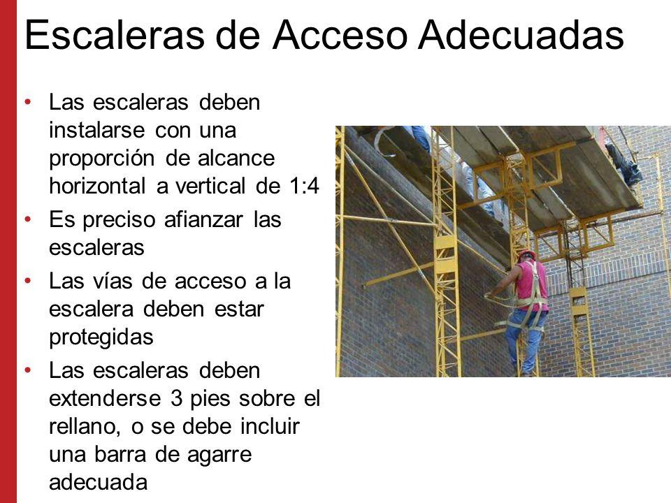 Escaleras de Acceso Adecuadas