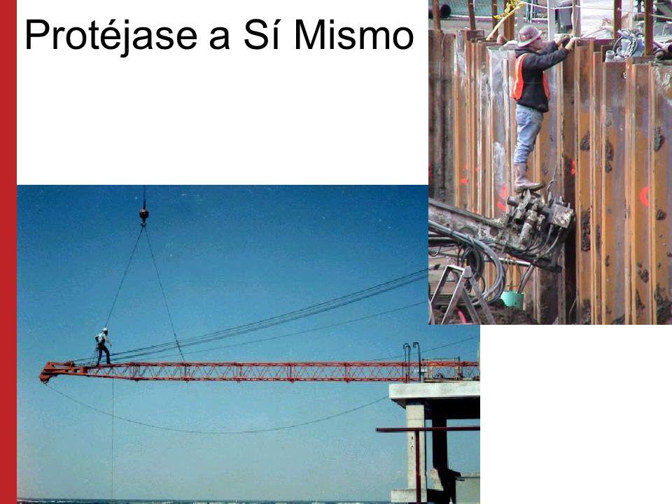 Protéjase a Sí Mismo Los empleados que estén expuestos a caídas superiores a seis pies de altura deben protegerse cuando trabajen en el equipo.