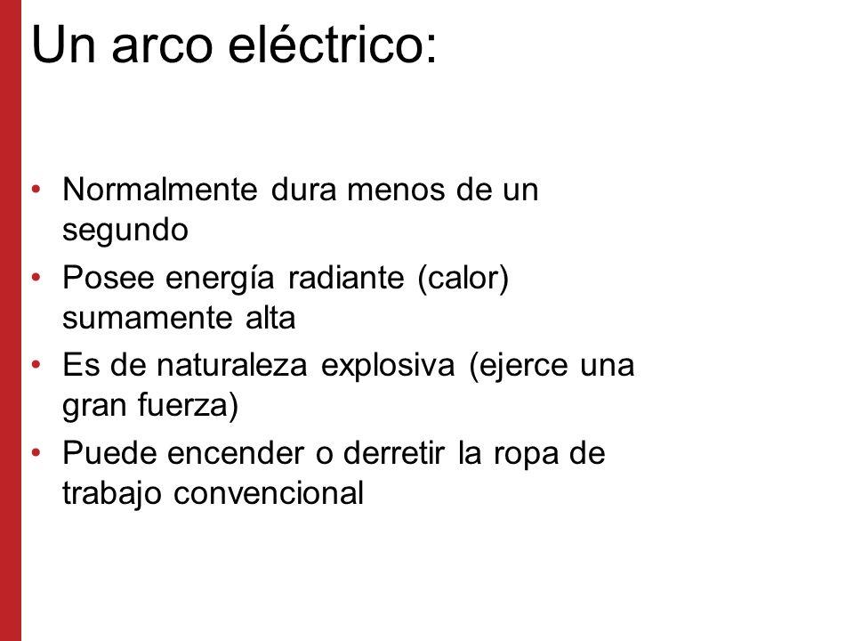 Un arco eléctrico: Normalmente dura menos de un segundo