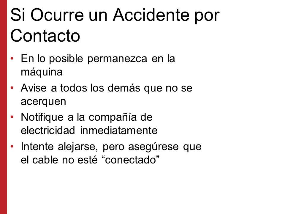 Si Ocurre un Accidente por Contacto