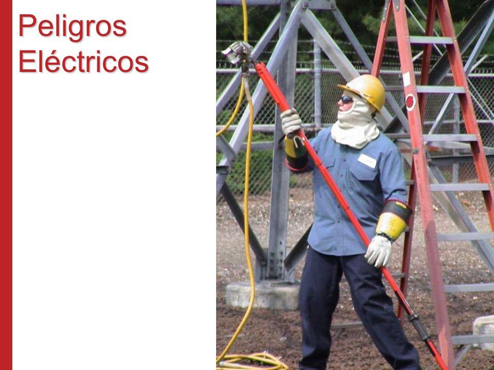 Peligros Eléctricos La protección principal contra riesgos al trabajar con electricidad es desenergizar los circuitos cada vez que sea posible.