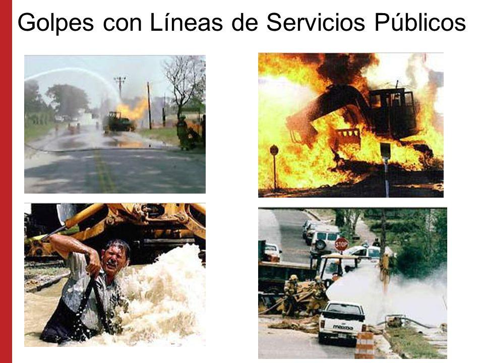 Golpes con Líneas de Servicios Públicos