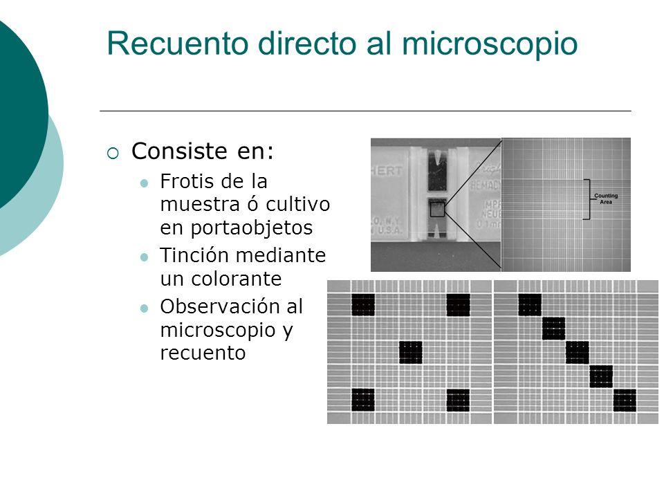 Recuento directo al microscopio