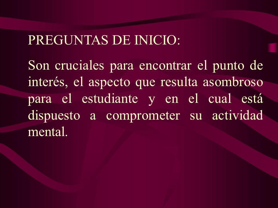 PREGUNTAS DE INICIO:
