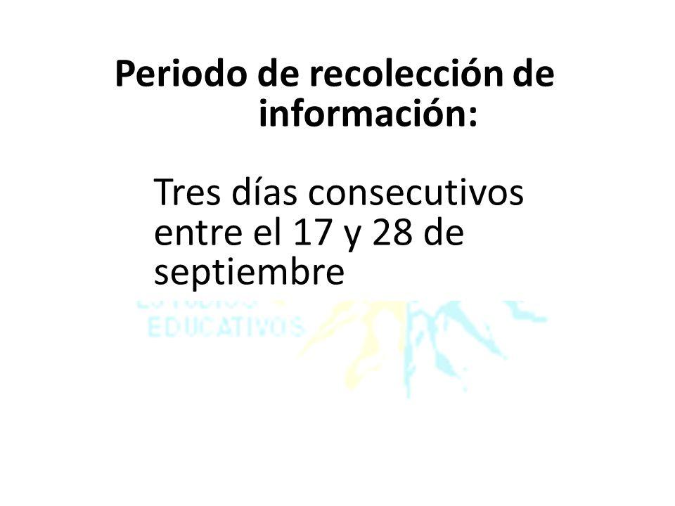 Periodo de recolección de información: