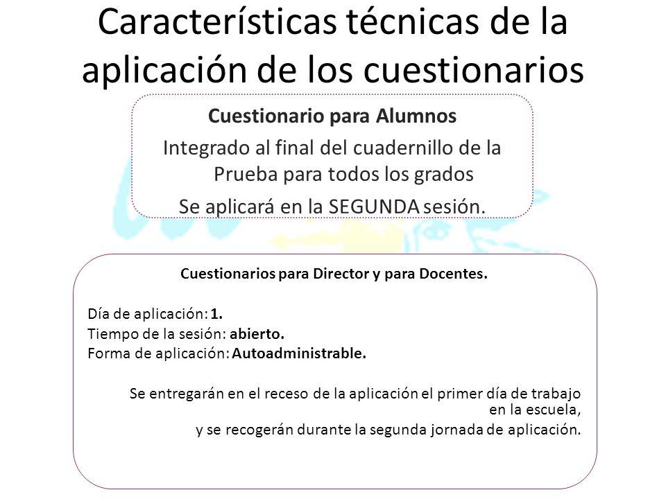 Cuestionarios para Director y para Docentes.