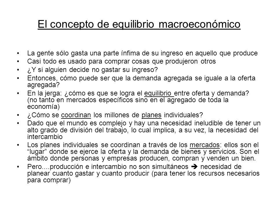 El concepto de equilibrio macroeconómico