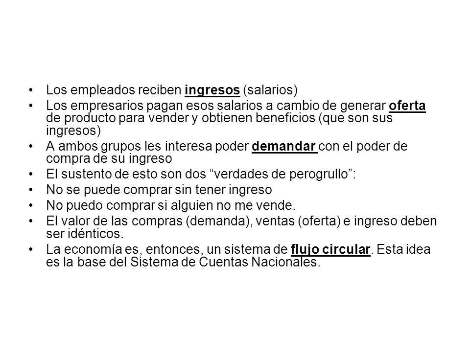 Los empleados reciben ingresos (salarios)