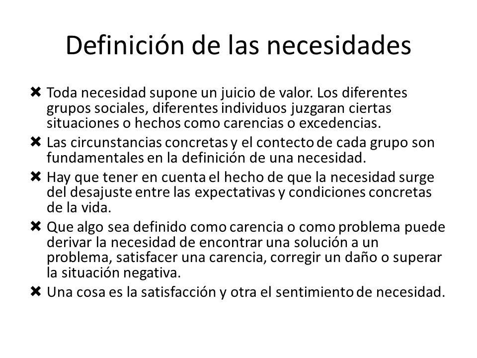 Definición de las necesidades