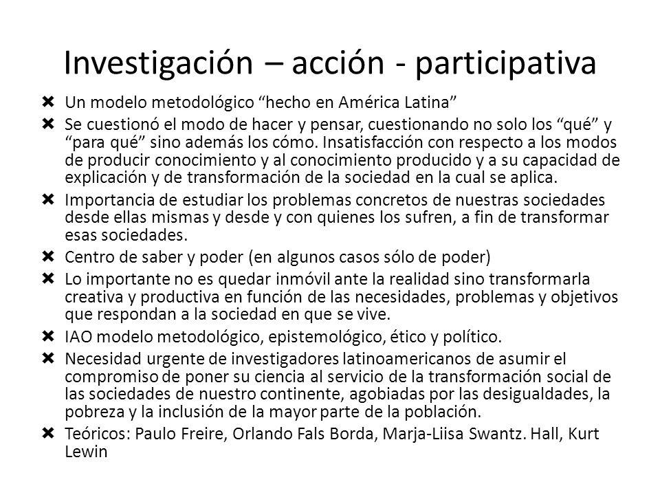Investigación – acción - participativa