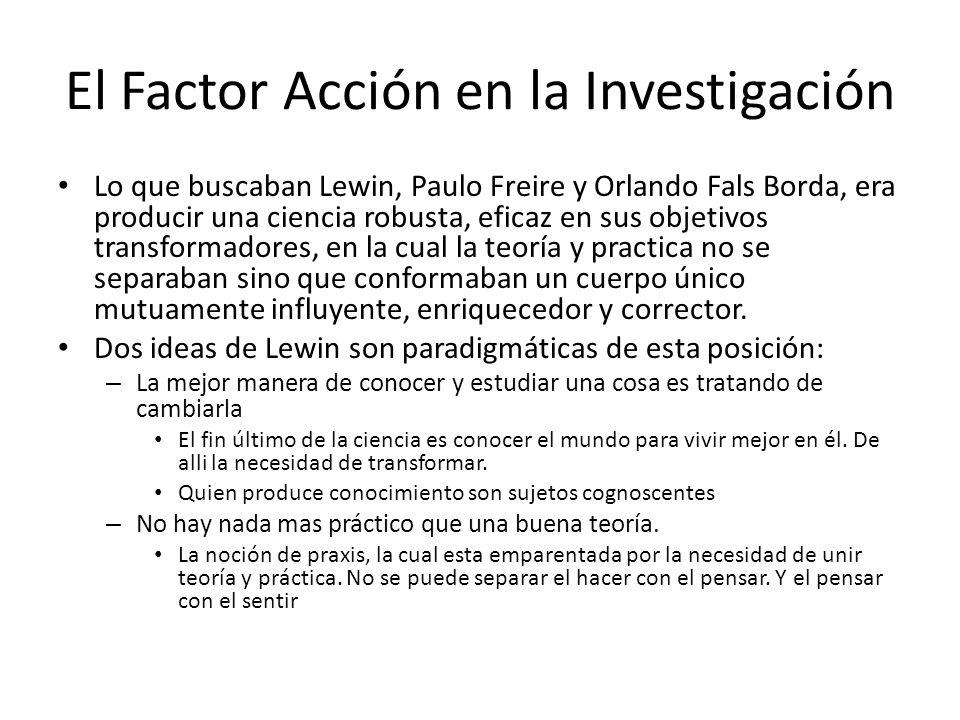 El Factor Acción en la Investigación