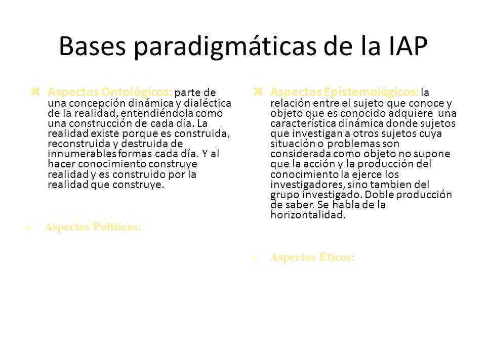 Bases paradigmáticas de la IAP