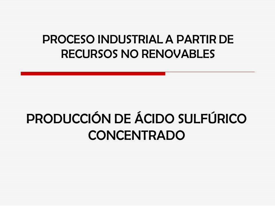 PRODUCCIÓN DE ÁCIDO SULFÚRICO CONCENTRADO