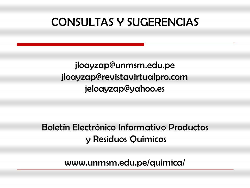 CONSULTAS Y SUGERENCIAS
