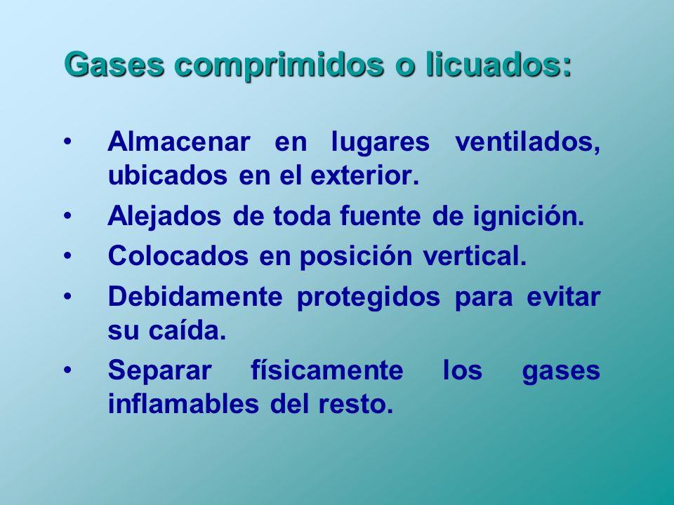 Gases comprimidos o licuados: